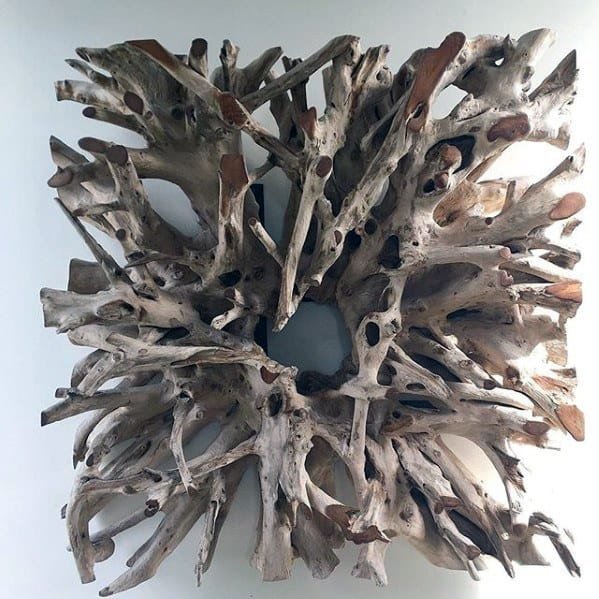 Cool Simple Bachelor Pad Wall Art Drift Wood Square