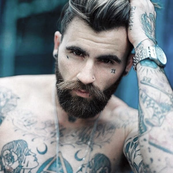 Cool Slick Mens Beard With Awesome Style