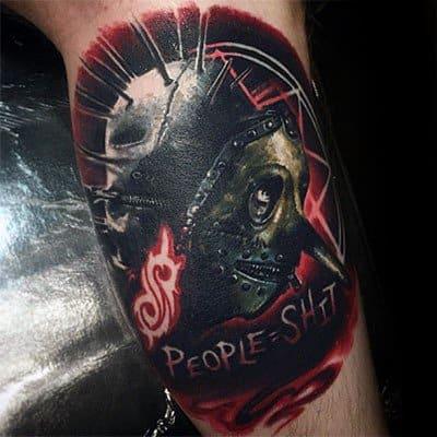 Cool Slipknot Tattoo Design Ideas For Male On Inner Arm Bicep