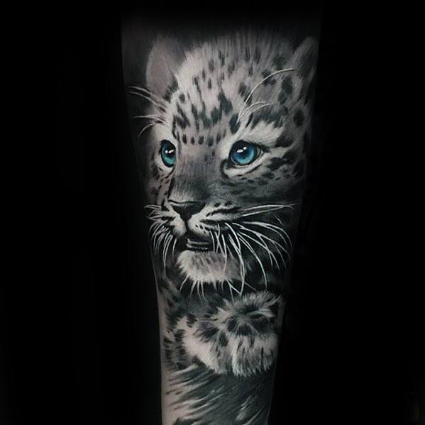 Cool Snow Leopard Tattoo Design Ideas For Male