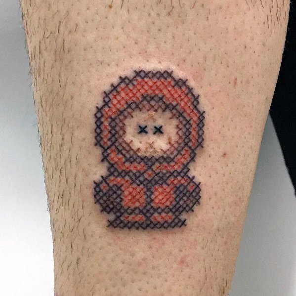 Cool South Park Pixel Kenny Tattoos For Men