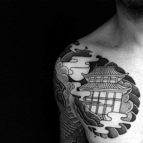 Cool Spiritual Buddhism Tattoo For Men On Chest