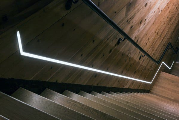 Cool Staircase Lighting Led Under Rail
