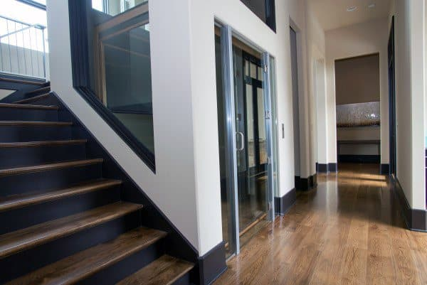 Cool Stairs With Elevator Design Ideas