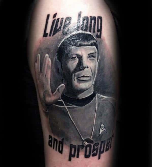Cool Star Trek Live Long And Prosper Arm Tattoo Design Ideas For Male