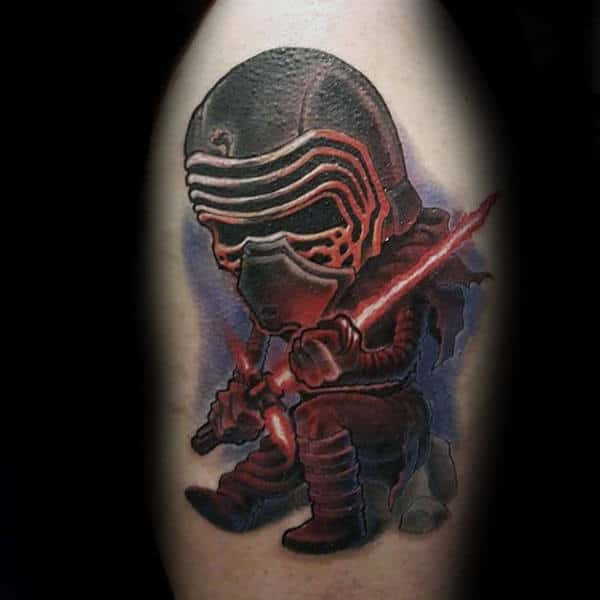 Cool Star Wars Lightsaber Upper Arm Tattoos For Males
