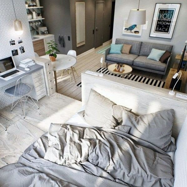 studio boho apartment bedroom ideas