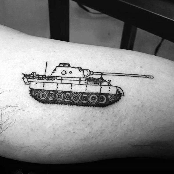 Cool Tank Tattoo Design Ideas For Male