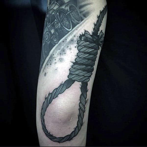 Cool Tattoo Of Looped Rope Mens Arms