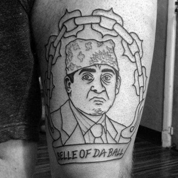 Cool The Office Prision Mike Tattoos For Men