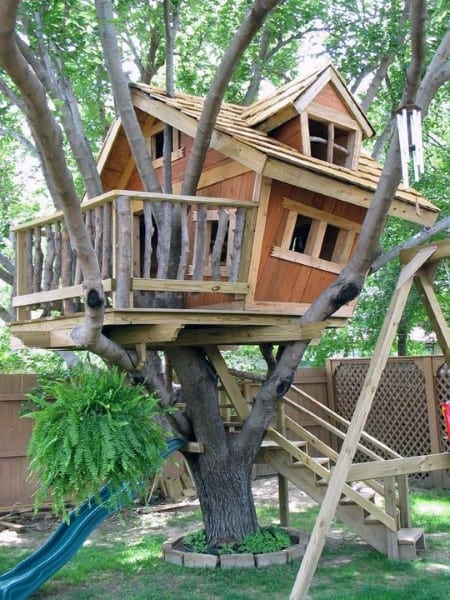 Top 60 best treehouse ideas wooden wonder designs for Awesome tree house plans