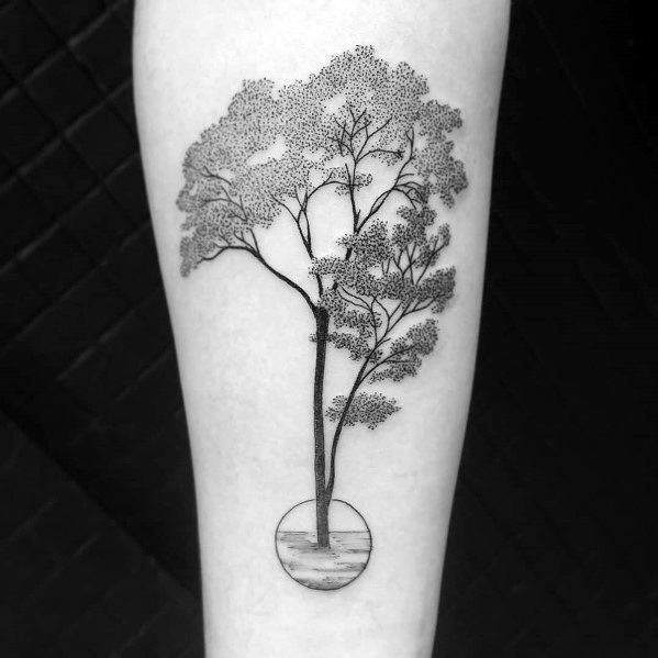 Cool Tree Tattoo Design Ideas For Men On Forearm