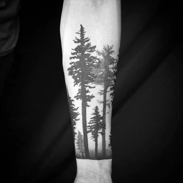 Cool Tree Tattoo Designs For Men On Forearms