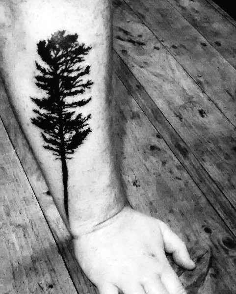 Cool Tree Tattoo On Man