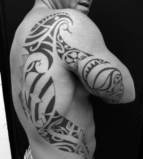 Cool Tribal Back Tattoos On Guys