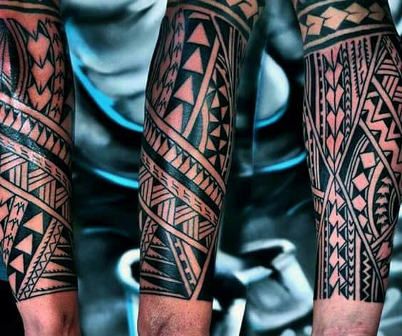 Cool Tribal Forearm Tattoos For Guys