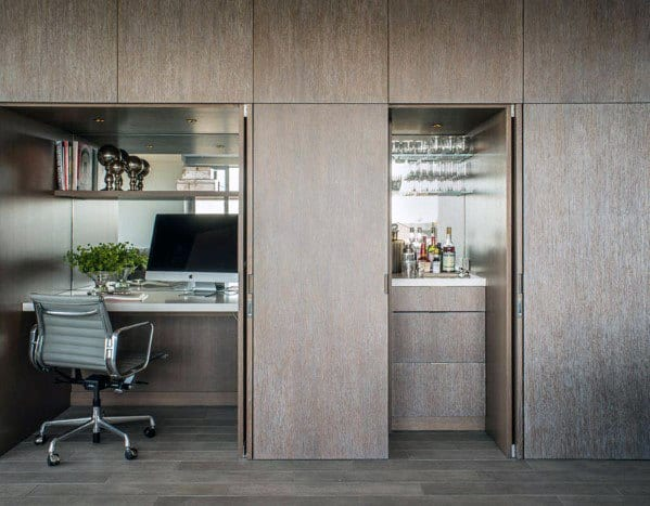Cool Ultra Modern Closet Office Design Ideas