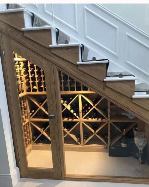 Cool Under Stairs Wine Cellar Room