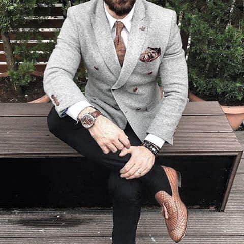 Cool Unique Trendy Outfits Styles For Men Light Grey Suit