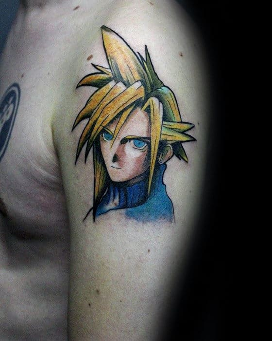 cool upper arm guys final fantasy tattoo inspiration