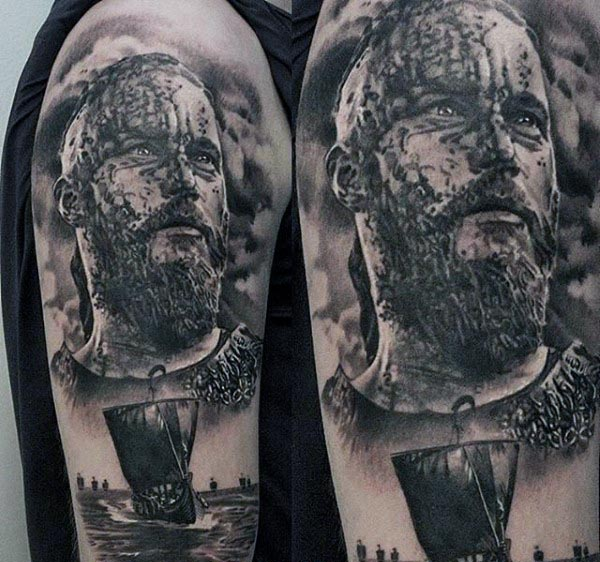 Cool Viking Arm Tatoo For Guys