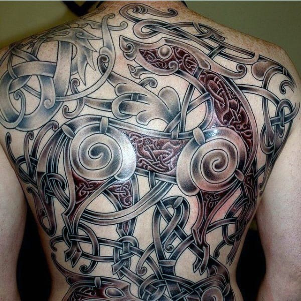 Cool Vikings Tattoos For Men On Back