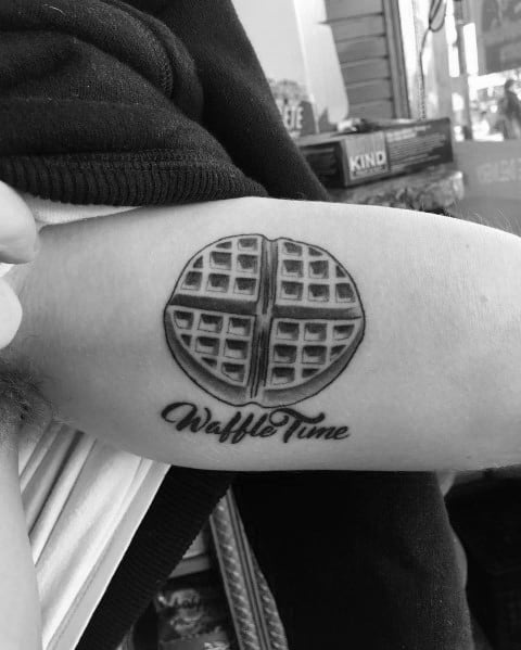 Cool Waffle Tattoos For Men On Arm