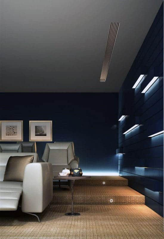 Cool Wall Light Decor In Basement Home Theater