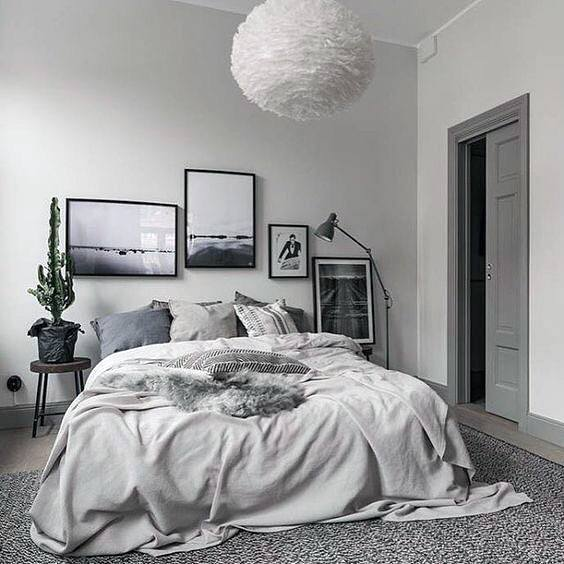 Cool White Grey Bedroom Ideas