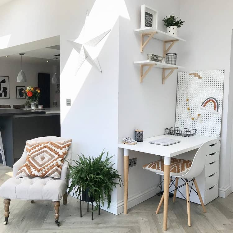 Cool White Home Study Pegboard Ideas Stoneandco