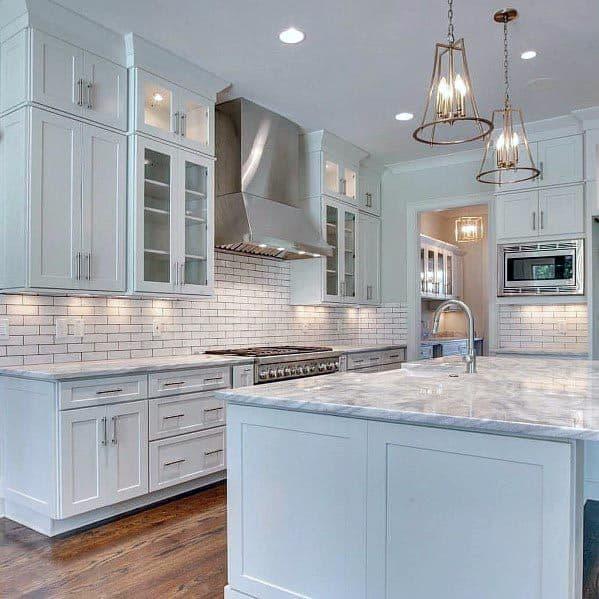Top 60 Best White Kitchen Ideas Clean