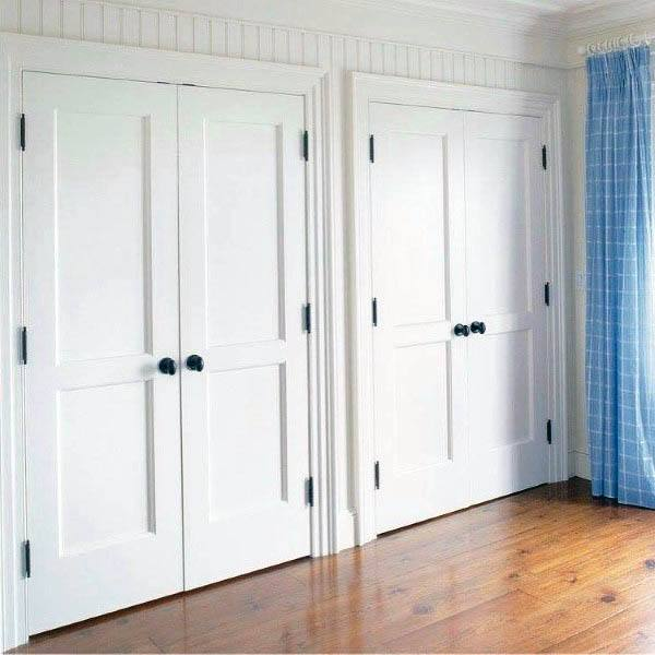 Superbe Cool White Painted Closet Door Designs