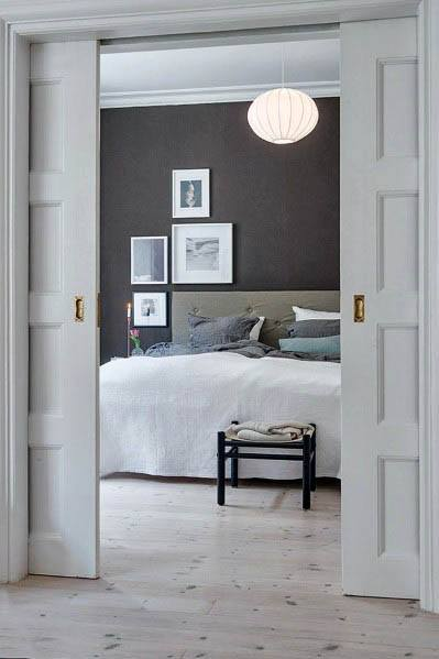 Cool White Sliding Pocket Door Design Ideas