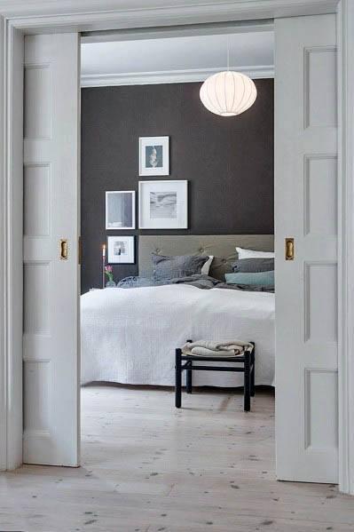 Cool White Sliding Pocket Door Design Ideas