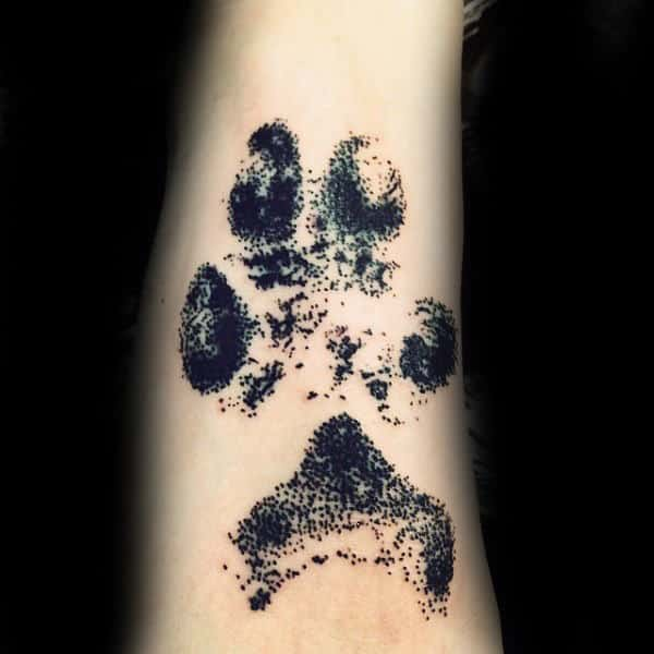 Cool Wolf Paw Tattoo On Inner Forearm Of Male