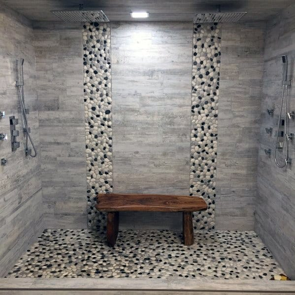 Cool Wood Bathroom Shower Bench Design Ideas