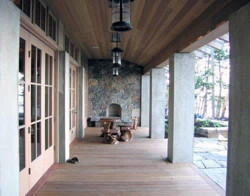 Cool Wooden Patio Ceiling Design Ideas