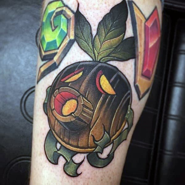 Cool Wooden Zelda Mens Arm Tattoos