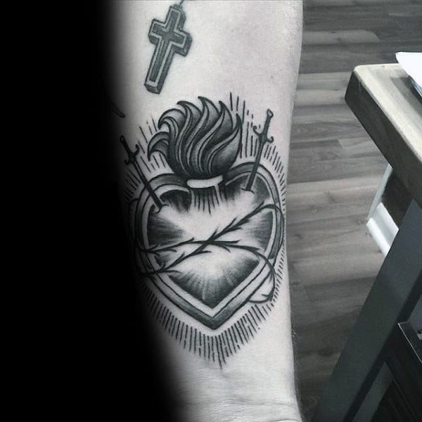 Cool Wrist Guys Sacred Heart Christian Tattoos