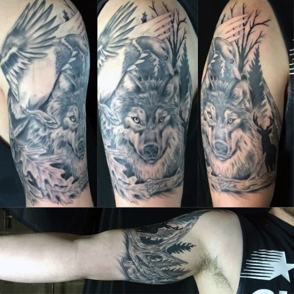 Coon Hunting Tattoos For Men