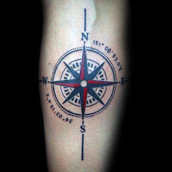 50 Coordinate Tattoo Ideas For Men - Geographic Landmark ... | 600 x 600 jpeg 28kB