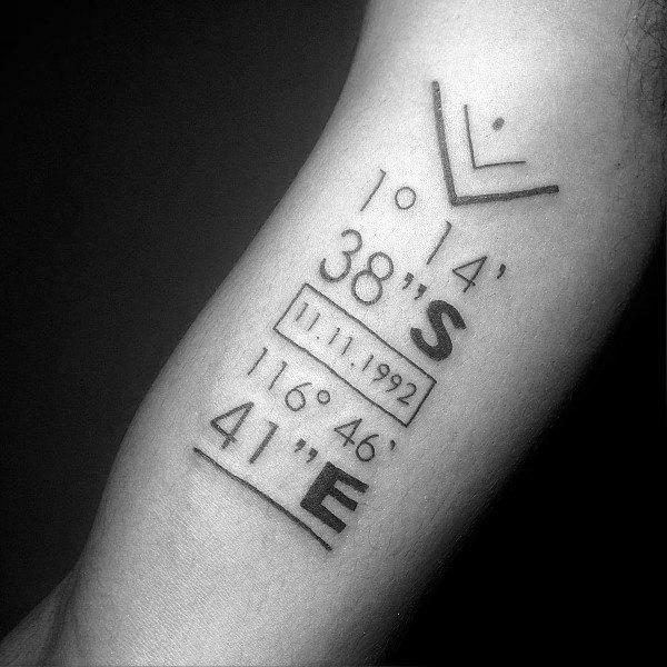 Coordinate Tattoo Design Ideas For Men