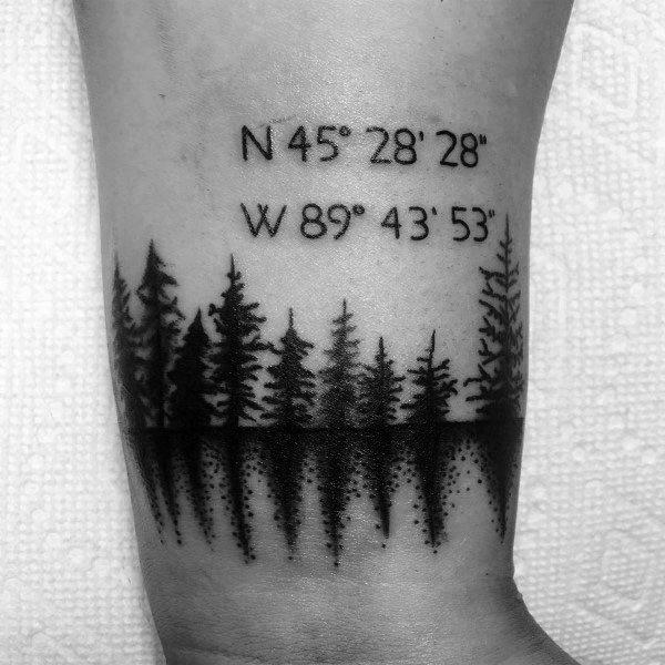 Coordinate Tattoo Designs On Men