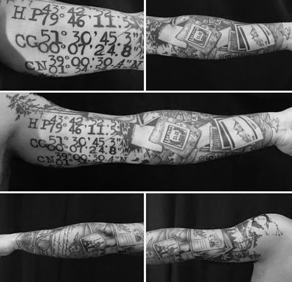 Coordinate Tattoo For Guys