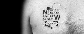 50 Coordinate Tattoo Ideas For Men – Geographic Landmark Designs