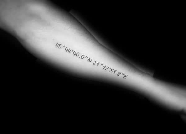 Coordinate Tattoos For Men