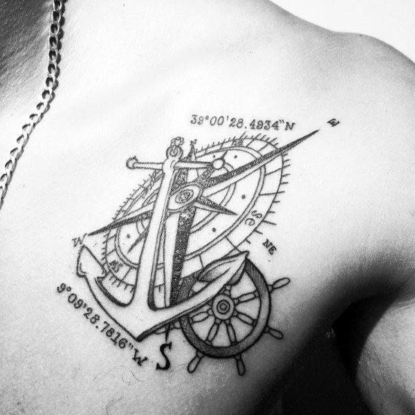 Coordinate Themed Tattoo Design Inspiration