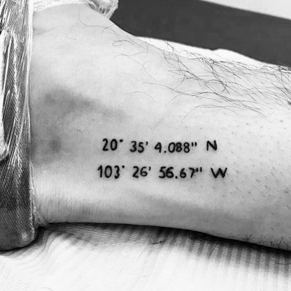 Coordinate Themed Tattoo Ideas For Men