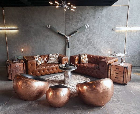 Copper Bachelor Pad Furniture Designs