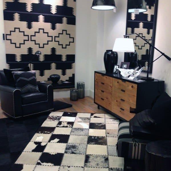 Black And White Bachelor Pad Furniture Storage Dresser
